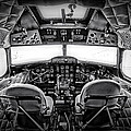 cockpit of a DC3 Dakota by Paul Fell