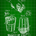 Cocktail Mixer And Strainer Patent 1902 - Green by Stephen Younts
