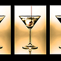 Cocktail Triptych In Gold by Jane Rix