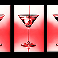 Cocktail Triptych In Red by Jane Rix