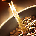 Coffe Beans In The Grinder by Mythja  Photography