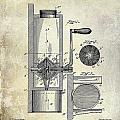 Coffee Mill Patent 1893 by Jon Neidert