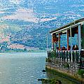 Coffee Shop At The Lake by Alexandros Daskalakis