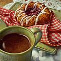 Coffee And Danish by Mia Tavonatti