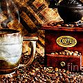 Coffee Beans And Grinder Closeup by Danny Hooks
