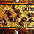Coffee Beans And Wood by Daliana Pacuraru