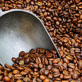 Coffee Beans With Scoop by Jason Politte