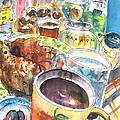 Coffee Break In Grakari In Crete by Miki De Goodaboom