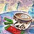 Coffee Break In Spili In Crete by Miki De Goodaboom
