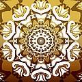 Coffee Flowers 10 Calypso Ornate Medallion by Angelina Vick