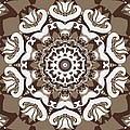 Coffee Flowers 10 Ornate Medallion by Angelina Vick