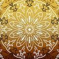 Coffee Flowers 11 Calypso Ornate Medallion by Angelina Vick