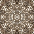 Coffee Flowers 11 Ornate Medallion by Angelina Vick