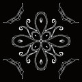 Coffee Flowers 4 Bw Ornate Medallion by Angelina Vick