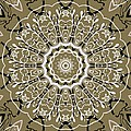 Coffee Flowers 5 Olive Ornate Medallion by Angelina Vick