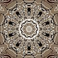 Coffee Flowers 5 Ornate Medallion by Angelina Vick