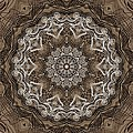 Coffee Flowers 6 Ornate Medallion by Angelina Vick