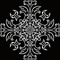 Coffee Flowers 7 Bw Ornate Medallion by Angelina Vick
