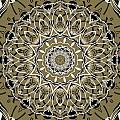 Coffee Flowers 7 Olive Ornate Medallion by Angelina Vick