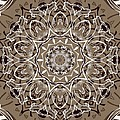 Coffee Flowers 7 Ornate Medallion by Angelina Vick