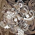 Coffee Flowers 8  by Angelina Vick