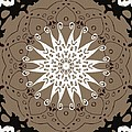 Coffee Flowers 9 Ornate Medallion by Angelina Vick