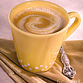 Coffee In Yellow Cup by Iris Richardson