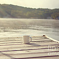Coffee On The Dock by Kay Pickens