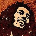 Coffee Painting Bob Marley by Georgeta  Blanaru