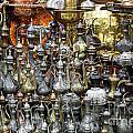 Coffee Pots At The Grand Bazaar In Istanbul Turkey by Robert Preston