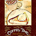 Coffee Time With Caramel Macchiato And Pumpkin Pie by Beverly Claire Kaiya