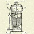Coffee Urn 1890 Patent Art by Prior Art Design