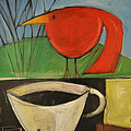 coffee with red bird II by Tim Nyberg