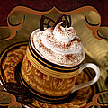 Coffee With Whipped Topping And Chocolates by Iris Richardson