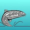 Coho Salmon by Fred Croydon