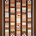 Coin Quilt -  Painting - Brown And White Patches by Barbara Griffin