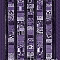 Coin Quilt -quilt Painting - Purple Patches by Barbara Griffin