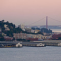 Coit Tower Sits Prominently On Top Of Telegraph Hill In San Francisco by Scott Lenhart