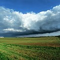 Cold Front Storm Clouds Over Fields by Jim Reed Photography/science Photo Library