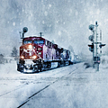 Cold Nights On The Midnight Train Color by Theresa Tahara