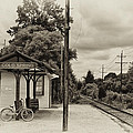Cold Spring Train Station In Sepia by Bill Cannon