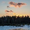 Cold Winter Sunset by Cheryl Baxter