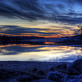 Cold Winter Sunset On The Lake by David Dufresne