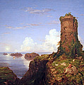 Cole's Italian Coast Scene With Ruined Tower by Cora Wandel