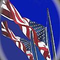 Collage Half Mast Flag Honoring President Ronald Reagan Number 2 Casa Grande Az  2004-2013 Vignetted by David Lee Guss