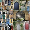 Collage Of Doors by Cathy Jacobs