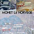 Collage Of Monet's Norwegian Works by Philip Ralley