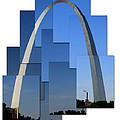 Collage Of St Louis Arch by Garry McMichael