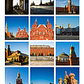 Collage - Red Square In The Morning by Alexander Senin