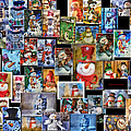 Collage Snowman Horz Photo Art by Thomas Woolworth
